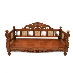 ETHINIC WOODEN CARVED JHULA FOR HOME DECOR