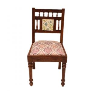 ETHINIC WOODEN CARVED CHAIR FOR HOME DECOR