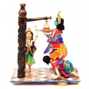 KRISHNA STEALING BUTTER MAKHAN CHOR BENGALI TRADITIONAL HANDMADE GOLU DOLLS
