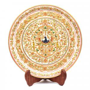 MARBLE STATUE FLORAL PLATE