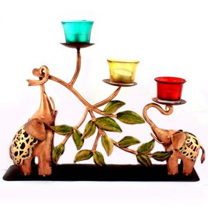 2 ELE CANDLE STAND