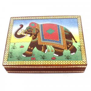 GEM STONE PAINING BOX ELEPHANT`