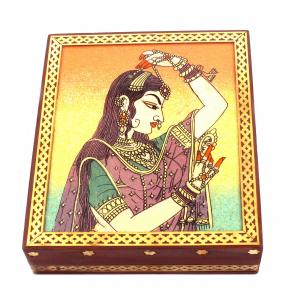 GEM STONE PANTING BOX PEACOK LADY