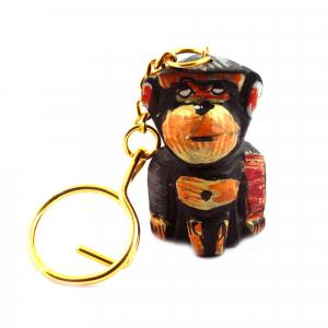 WOODEN PAINTING KEY CHAIN MONKEY