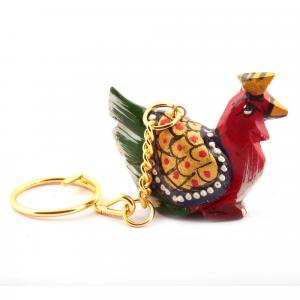 WOODEN PAINTING KEY CHAIN  HEN