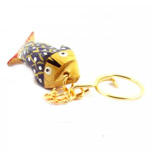 WOODEN PAINTING KEY CHAIN  FISH