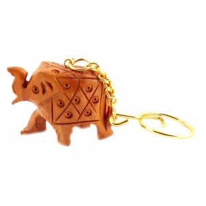 WOODENCARVING JALI KEY CHAIN  ELEPHANT