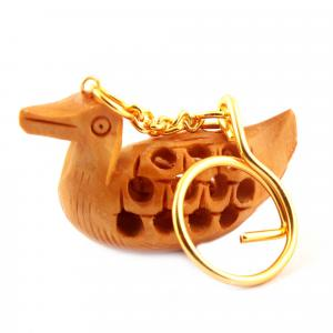 WOODENCARVING JALI KEY CHAIN  DUCK
