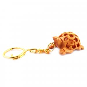 WOODENCARVING JALI KEY CHAIN FORG