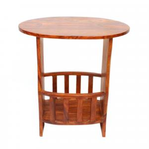 WND TABLE WITH MAGAZINE RACK