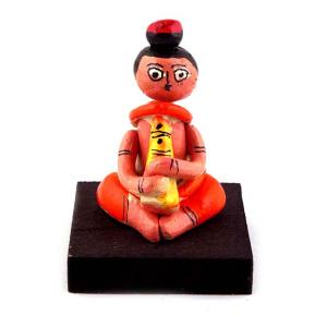 CLAY DOLL SITTING MUSICIAN LADY