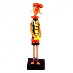 CLAY DOLL STANDING MUSICIAN