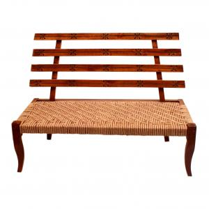 JUTE CURVED BACK REST CHAIR 2 SEATER