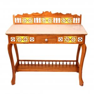 CONSOLE TABLE WITH MARBLE