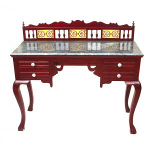 CONSOLE TABLE  4 DRAWER WITH MARBLE