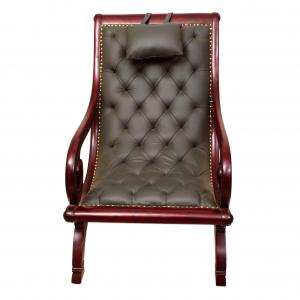 EASY CHAIR WITH GENUINE LEATHER