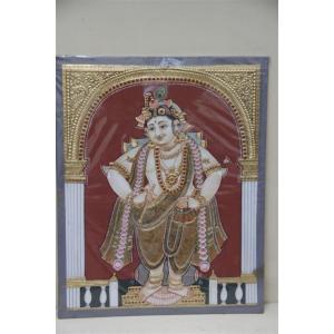 22ct Gold Handmade Lord Vitobha Krishna Tanjore Painting