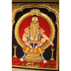 22ct Gold Handmade Lord Ayyappa Tanjore Painting