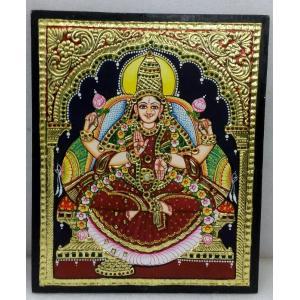 22ct Gold Goddess Lakshmi Dhana Lakshmi Tanjore Painting