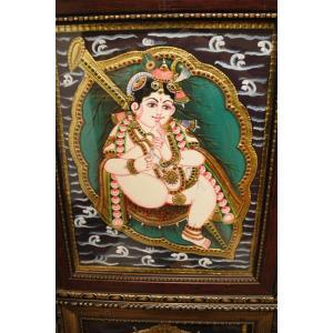 22ct Gold Handmade Lord Krishna Alilai Tanjore Painting
