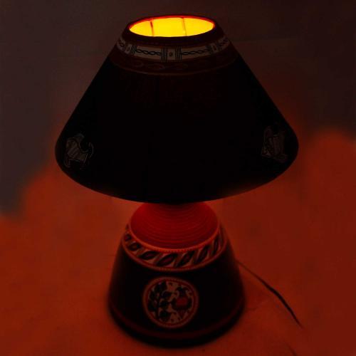 CLAY LAMP BASE-BLACK