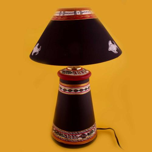 DESIGNER CLAY LAMP BASE WITH BLACK