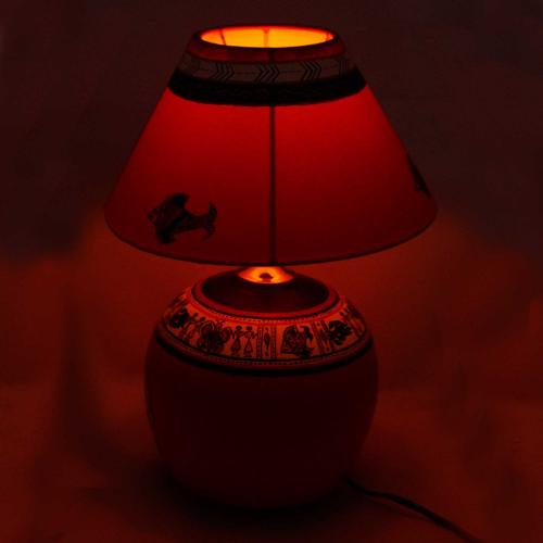 CLAY LAMP BASE-ORANGE