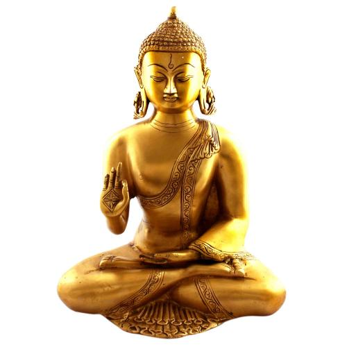 BUDDHA SITTING BRASS FINISHING