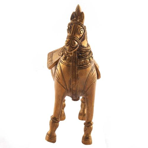 HORSE STANDING WITH MONEY BOX