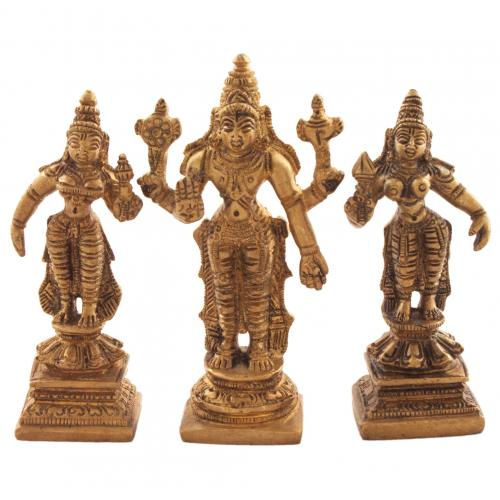 VISHNU STANDING WITH SRIDEVI BHUDEVI