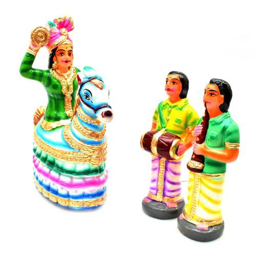 DANCING HORSE SET OF 3 PCS(POI KAAL KUTHIRAI)