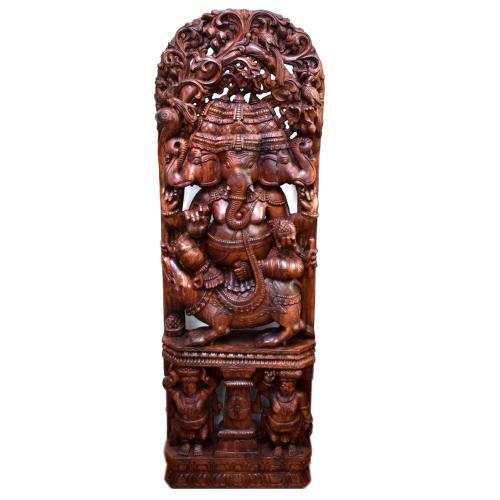 WOODEN GANESHA PANEL