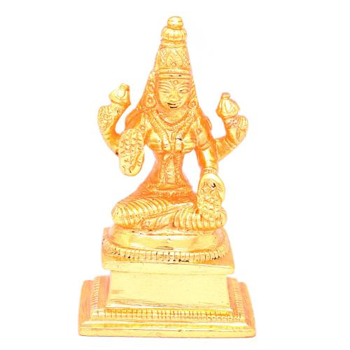 BRASS LAKSHMI SITTING WITH BASE