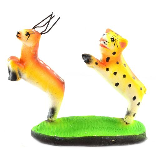 GOLU DOLL DEER WITH  TIGER