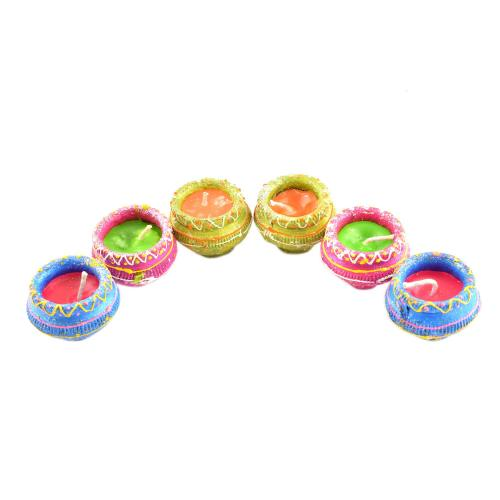Wax Matka Diya (set of 6)