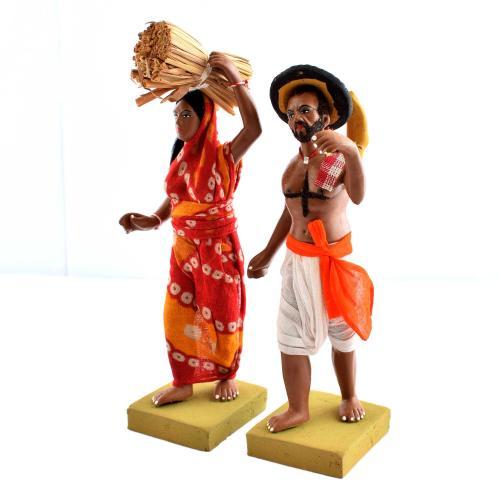 GOLU DOLL TRIBAL COUPLE SET OF 2