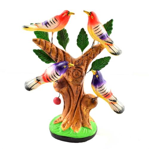 GOLU DOLL Four birds on tree