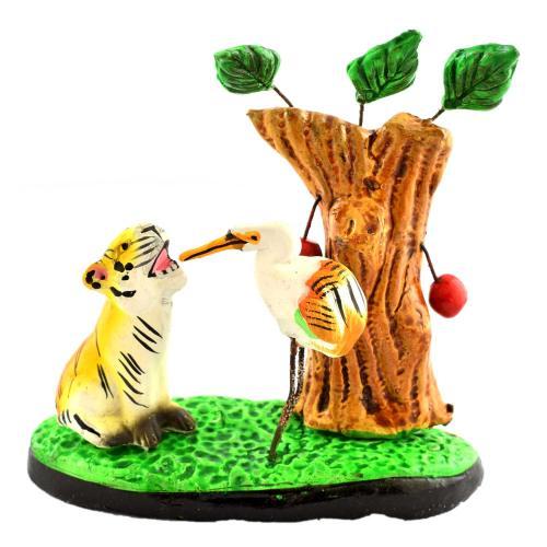 GOLU DOLL TIGER AND SWAN UNDER TREE