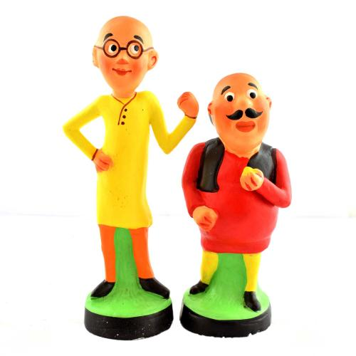 GOLU DOLL MOTU PATLU SET OF 2