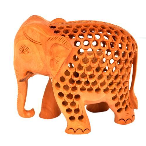 WOODEN JALI ELEPHANT