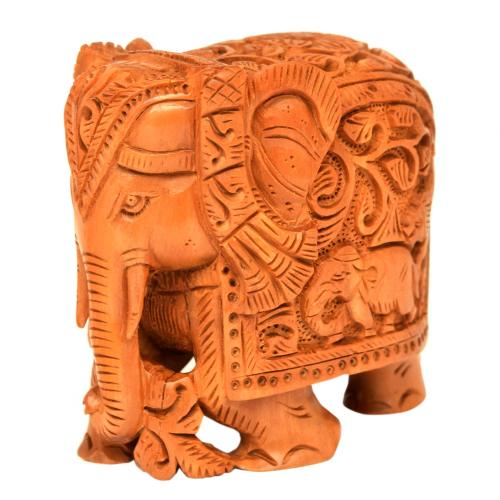 SANDAL WOOD ELEPHANT CARVING