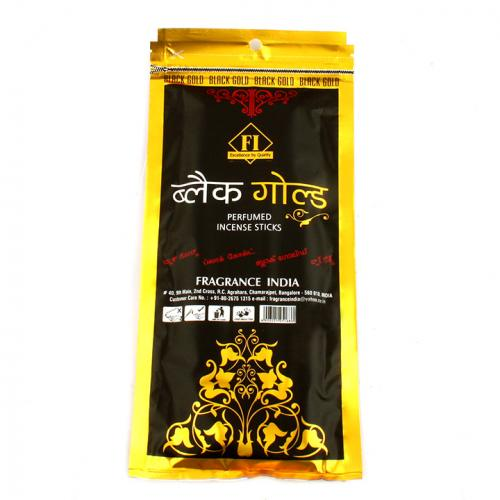 BLACK GOLD INCENSE POUCH