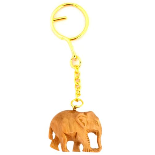 SANDAL WOOD KEY CHAIN ELEPHANT