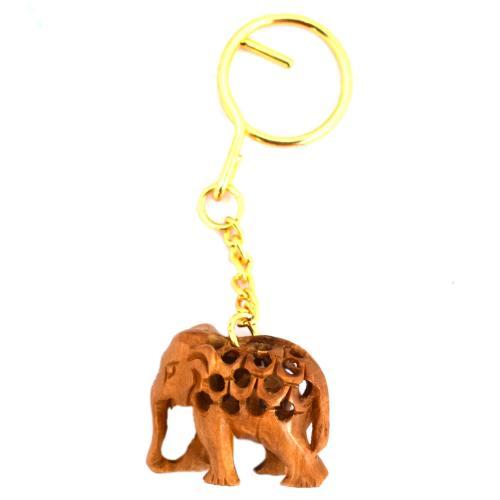 SANDAL WOOD KEY CHAIN JALI ELEPHANT