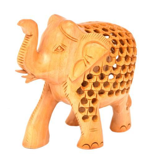 WOODEN ELEPHANT JALI