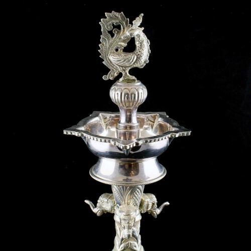 Nagas Design Peacock Lamp