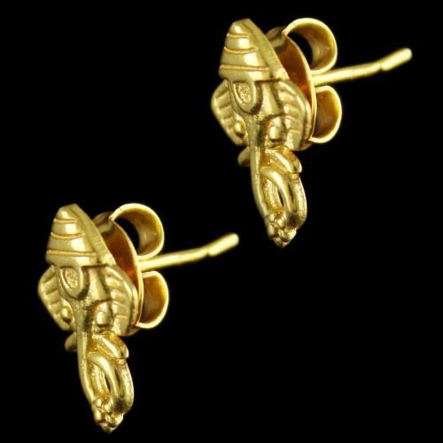 Gold Plated Ganesh ji Floral Earrings