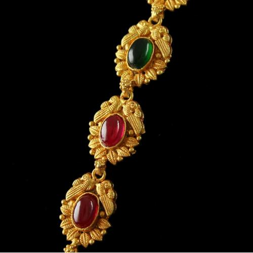 Antique Design Gold Plated Necklace With Gods