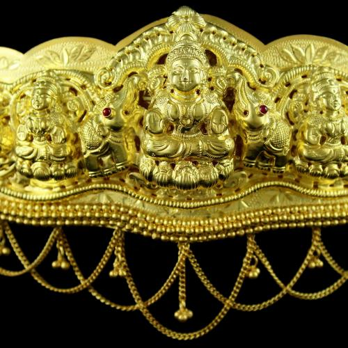 Antique Design Gold Plated Oddiyanam