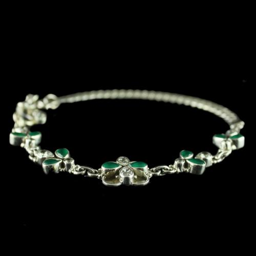 92.5 Oxidized Silver Fancy Design Anklets Studded Zircon Stones